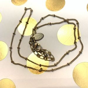 Origami Owl gold ball chain 16-18""